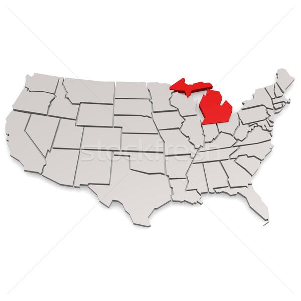 Michigan görüntü render kullanılmış grafik tasarım Stok fotoğraf © tang90246