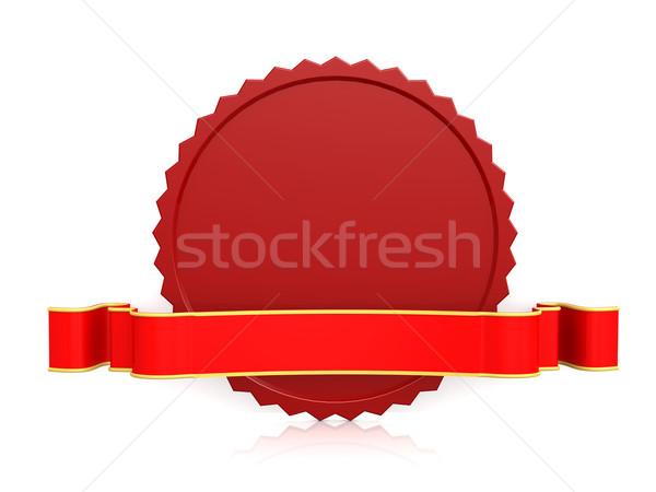 Seal with ribbon red Stock photo © tang90246