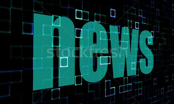 Pixeles szavak hírek digitális kép renderelt Stock fotó © tang90246