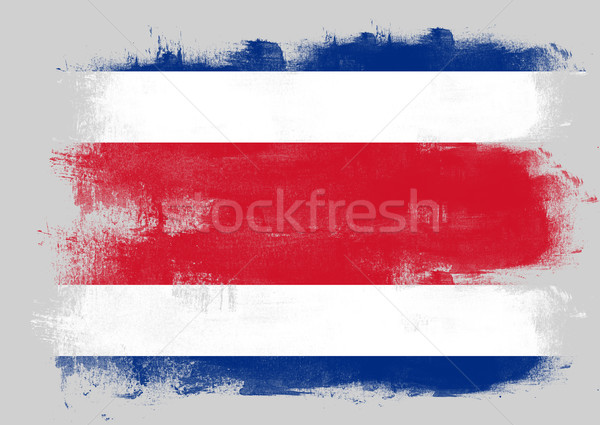 флаг Коста-Рика окрашенный щетка твердый аннотация Сток-фото © tang90246