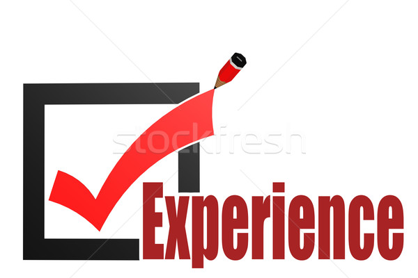 Check mark with experience word Stock photo © tang90246