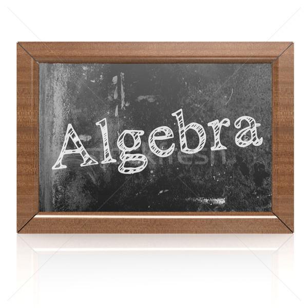 Algebra written on blackboard Stock photo © tang90246