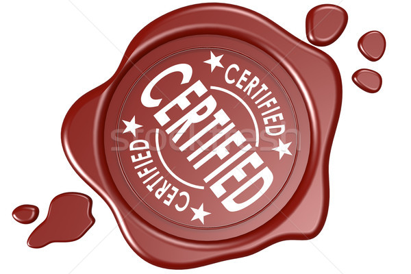Certified label seal isolated Stock photo © tang90246