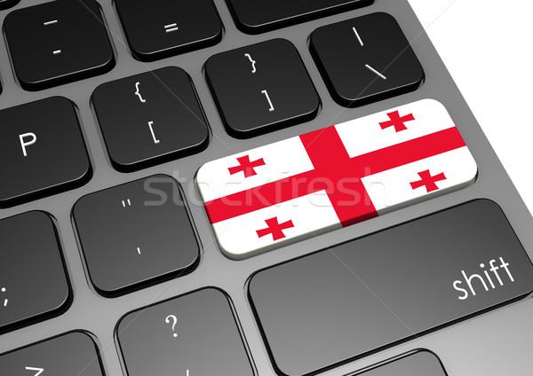 Грузия клавиатура изображение оказанный используемый Сток-фото © tang90246