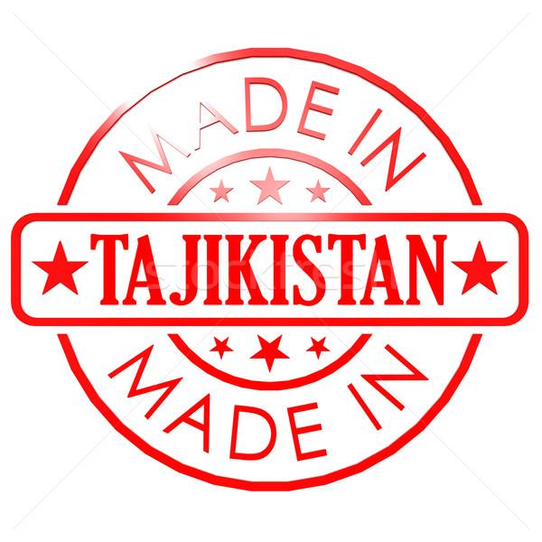 Таджикистан красный печать бизнеса бумаги дизайна Сток-фото © tang90246