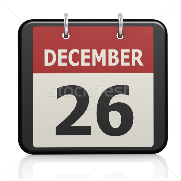 декабрь 26 бокса день календаря знак Сток-фото © tang90246