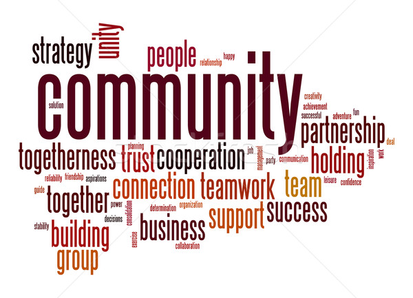 Community word cloud Stock photo © tang90246