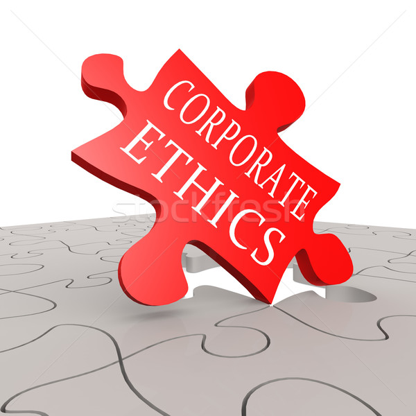 Corporate ethics puzzle Stock photo © tang90246