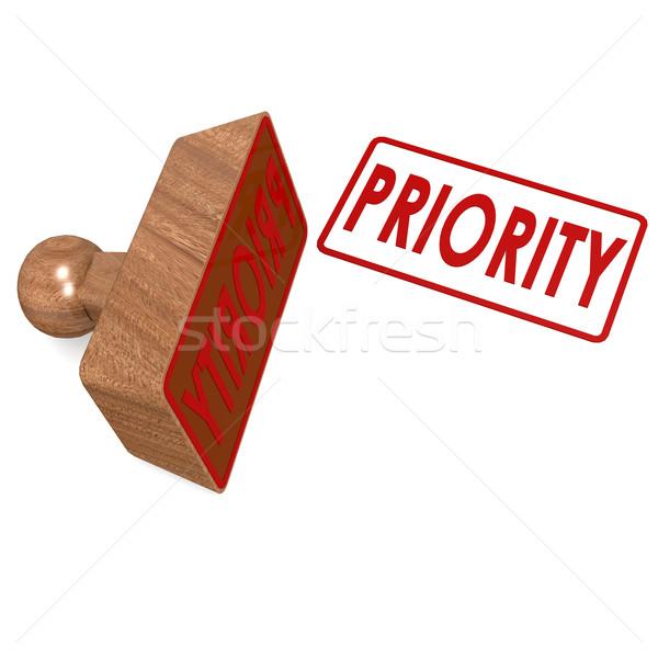 Priorytet pieczęć podpisania czerwony Uwaga stanie Zdjęcia stock © tang90246