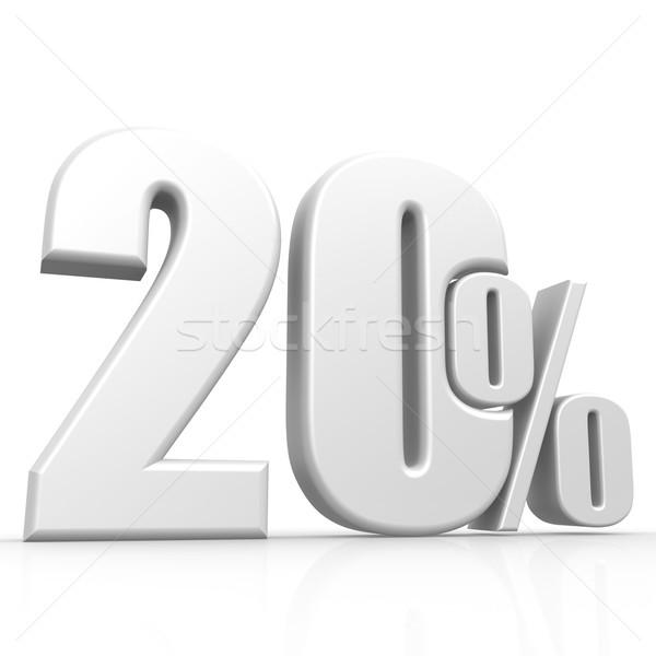 Vinte por cento branco imagem prestados Foto stock © tang90246