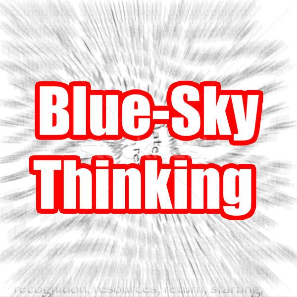 Blue Sky Thinking Stock photo © tang90246