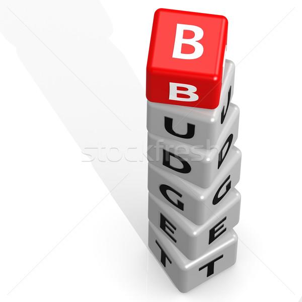 бюджет красный изображение оказанный используемый Сток-фото © tang90246
