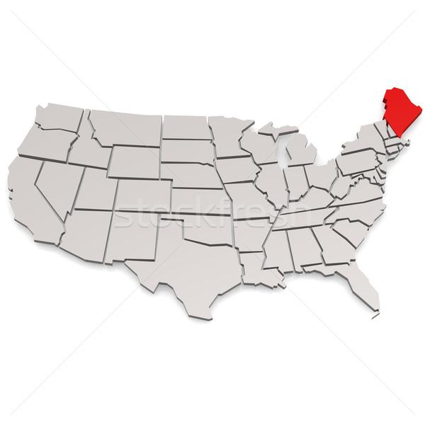 Stockfoto: Maine · afbeelding · gerenderd · gebruikt · grafisch · ontwerp