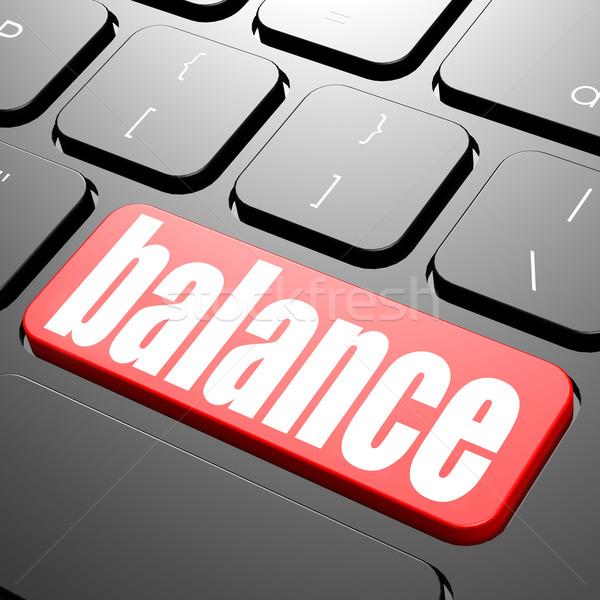 Сток-фото: клавиатура · баланса · текста · изображение · оказанный