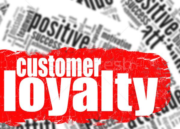 Nube de palabras cliente lealtad imagen prestados Foto stock © tang90246