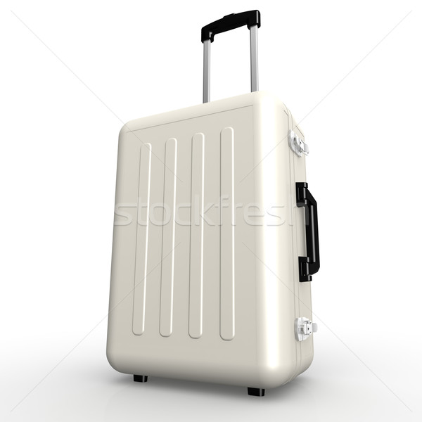 White luggage stands on the floor Stock photo © tang90246