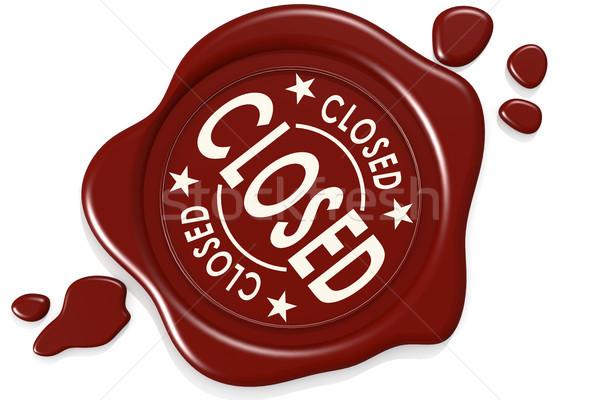 Fermé étiquette sceau isolé image rendu Photo stock © tang90246