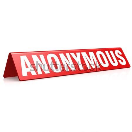 Anonim címke kép renderelt mű használt Stock fotó © tang90246