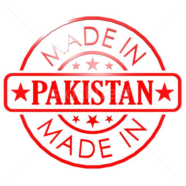 Pakistan Rood zegel business papier ontwerp Stockfoto © tang90246