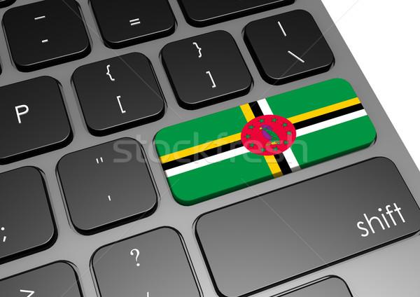 Dominica toetsenbord afbeelding gerenderd gebruikt Stockfoto © tang90246