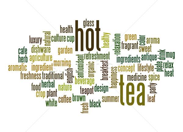 Hot tea word cloud Stock photo © tang90246