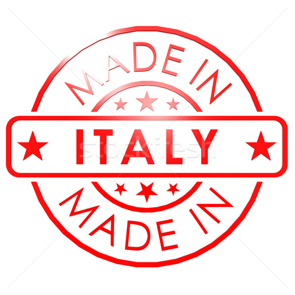 Made in Italy red seal Stock photo © tang90246