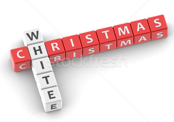 Buzzwords white christmas Stock photo © tang90246