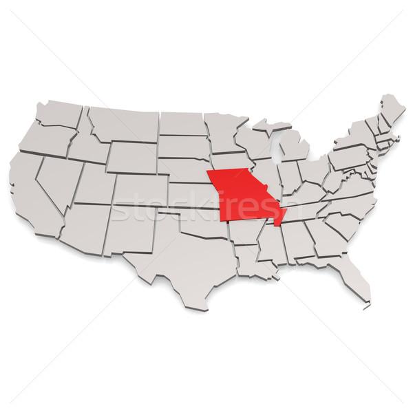 Stok fotoğraf: Missouri · görüntü · render · kullanılmış · grafik · tasarım