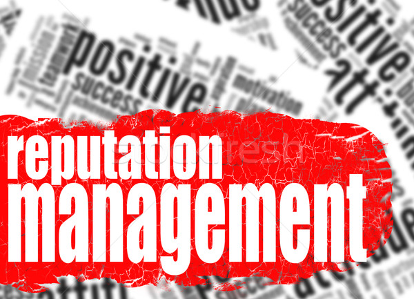 Word cloud reputation management Stock photo © tang90246