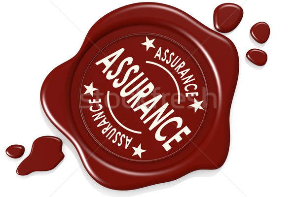 Assurance label seal isolated Stock photo © tang90246