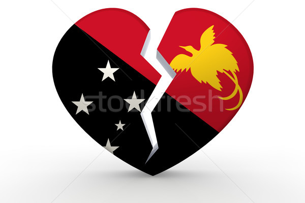 сломанной белый формы сердца новых флаг 3D Сток-фото © tang90246