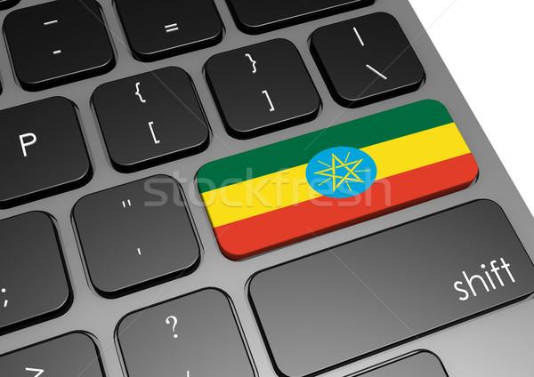 Etiopia klawiatury obraz świadczonych używany Zdjęcia stock © tang90246