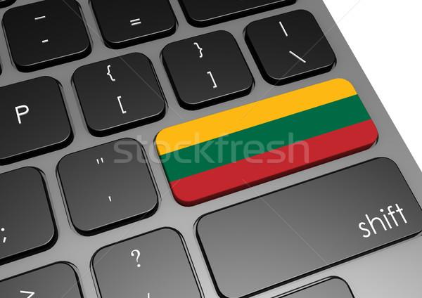 Литва клавиатура изображение оказанный используемый Сток-фото © tang90246