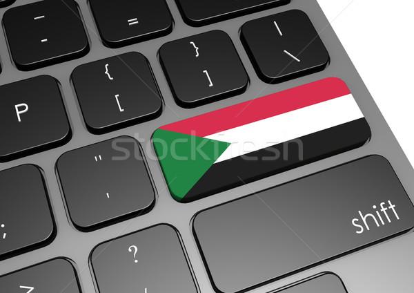 Sudan klawiatury obraz świadczonych używany Zdjęcia stock © tang90246