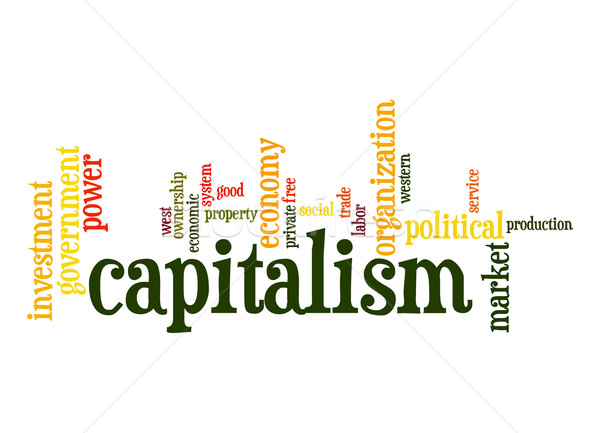 капитализм слово облако облаке власти свободный тег Сток-фото © tang90246