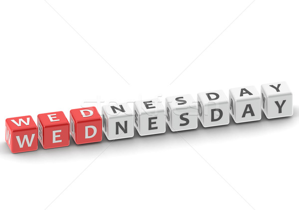 Wednesday puzzle word Stock photo © tang90246