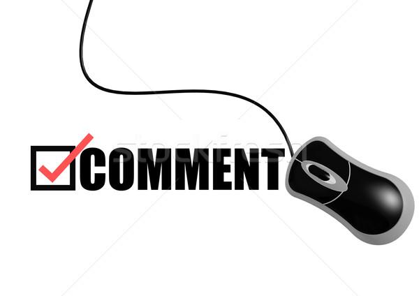 Comentario ratón ordenador Internet tecnología comunicación Foto stock © tang90246