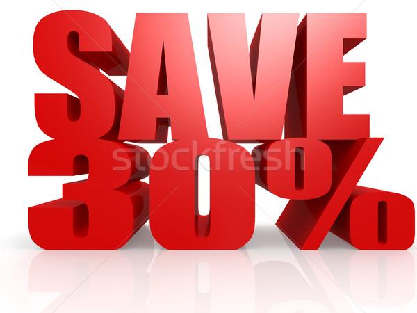 Salvar 30 por cento negócio dinheiro projeto Foto stock © tang90246