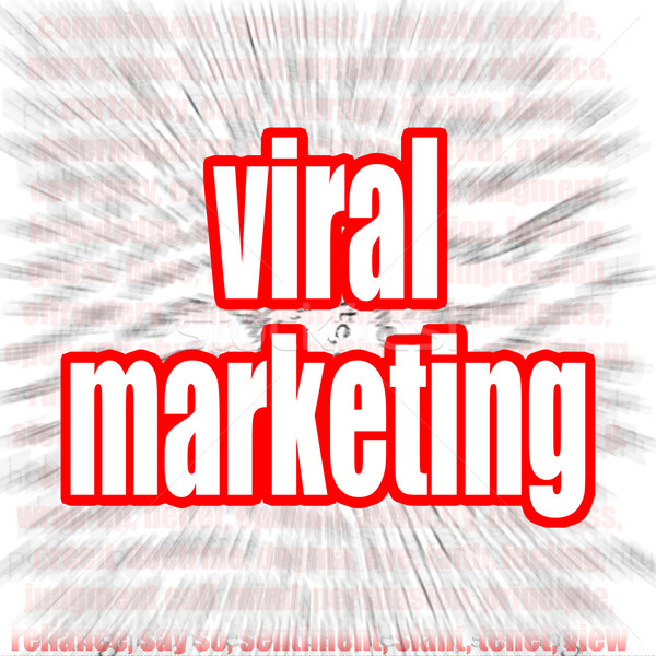 Viral marketing nuage de mots image rendu Photo stock © tang90246