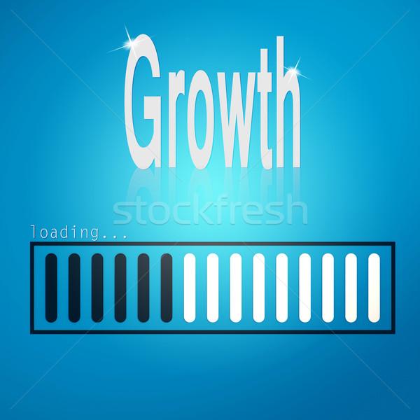 Stock photo: Growth blue loading bar
