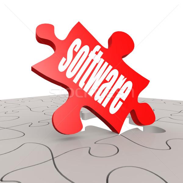 Szoftver szó puzzle kép renderelt mű Stock fotó © tang90246
