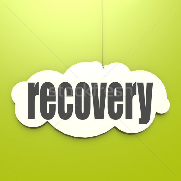 White cloud with recovery Stock photo © tang90246