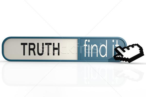 真実 言葉 青 見つける バナー 画像 ストックフォト © tang90246