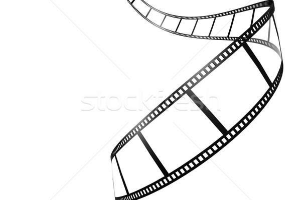Zwarte filmstrip geïsoleerd afbeelding gerenderd Stockfoto © tang90246