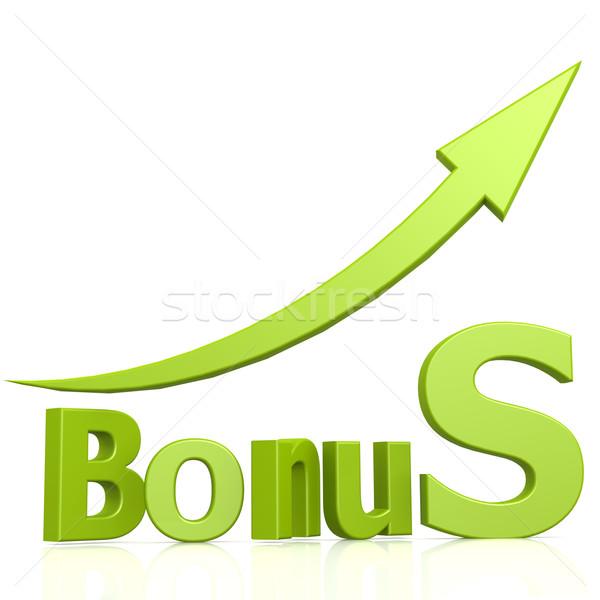 Bonus word with arrow Stock photo © tang90246