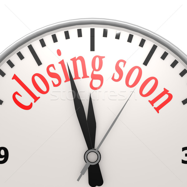 Closing soon clock Stock photo © tang90246