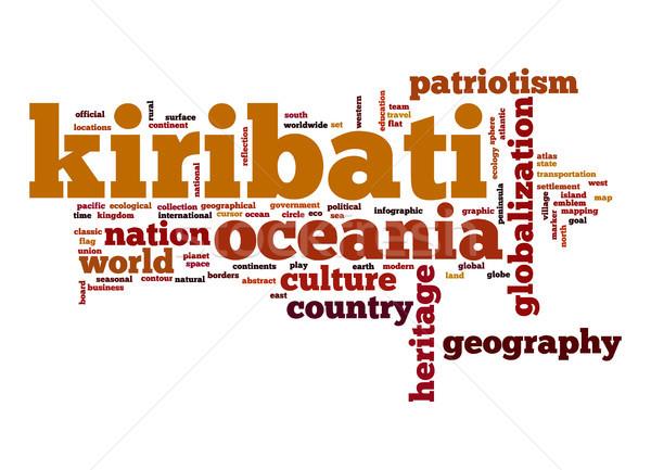 Kiribati word cloud Stock photo © tang90246