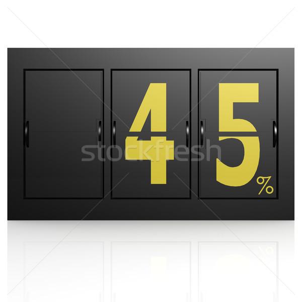 Airport display board 45 percent Stock photo © tang90246