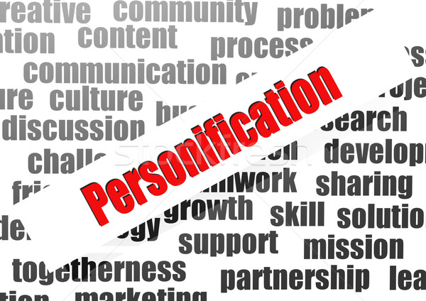 Personification word cloud Stock photo © tang90246