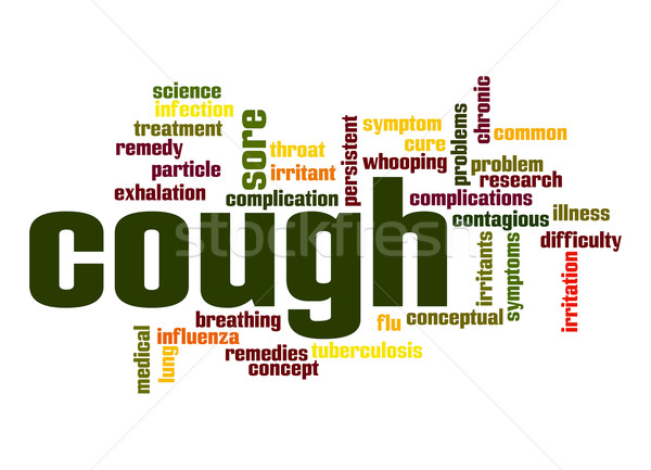 Cough word cloud Stock photo © tang90246
